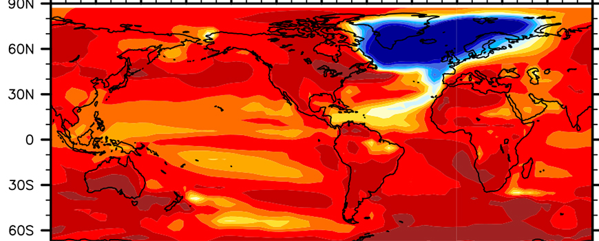 North Atlantic Ocean cooling scenario following collapse of Atlantic Meridional Overturning Circulation