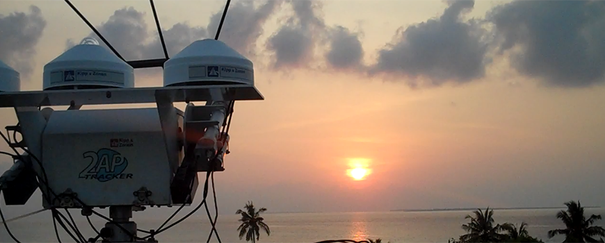 Sensors at a Maldivian observatory monitor atmospheric conditions during 2012's CARDEX