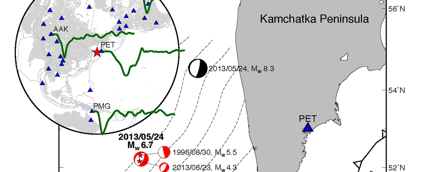Map of Okhotsk earthquake