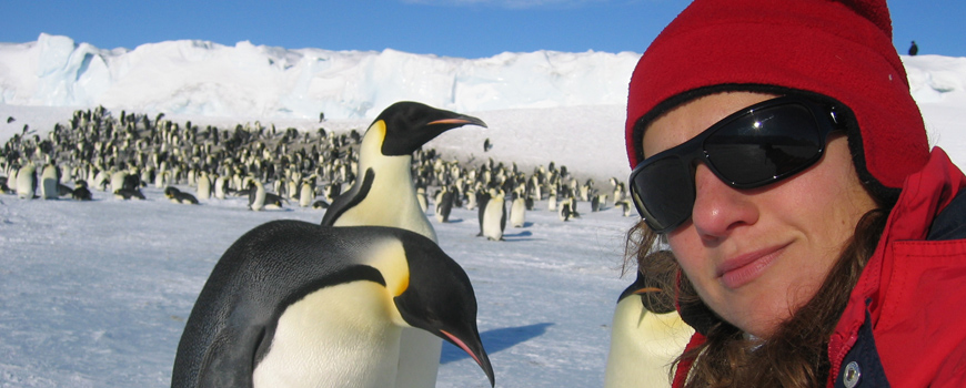 Jessica Meir in Antarctica