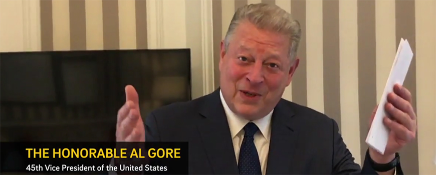 Former Vice President Al Gore is among well-wishers