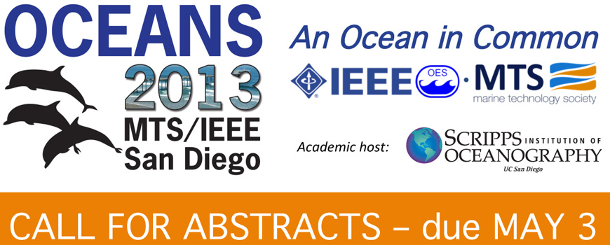 Banner for the OCEANS'13 Conference