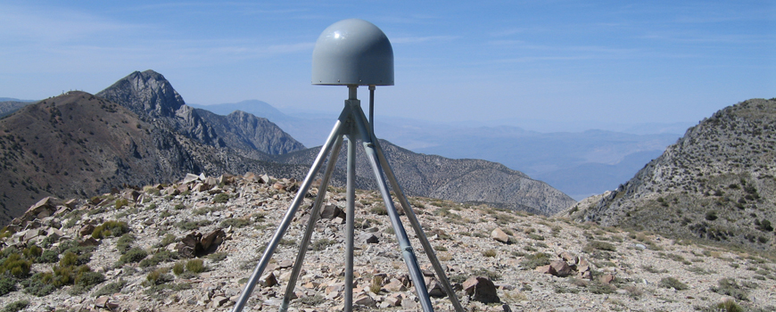 GPS station in the Inyo Mountains