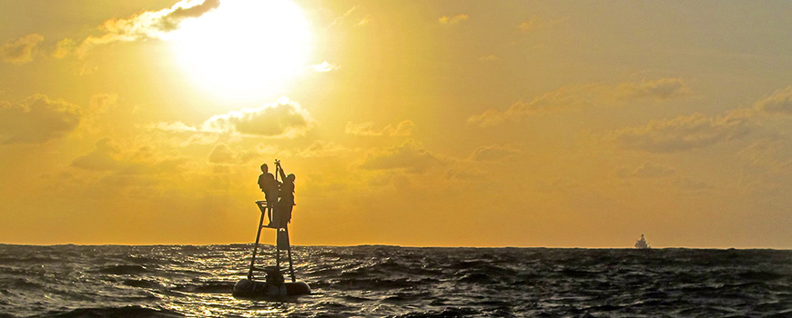 Buoy repair in the Indian Ocean. Photo: Matt Durham
