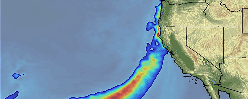 View of an atmospheric river that made landfall in California on Feb. 16, 2017