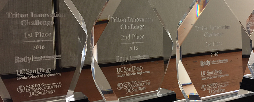 Triton Innovation Challenge trophies