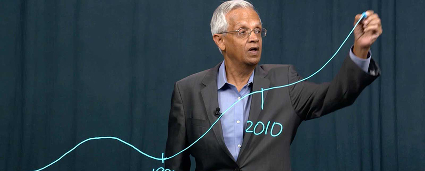 "Scripps Oceanography researcher V. Ramanathan in 2015 video ""Bending the Curve"""