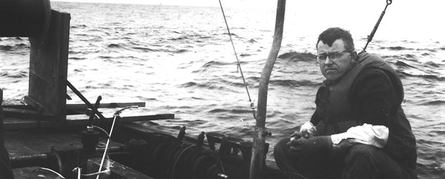 """Charles """"Chip"""" Cox at sea"""