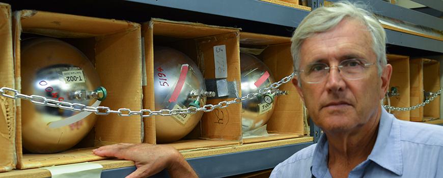 Scripps Oceanography Distinguished Professor Emeritus Ray Weiss
