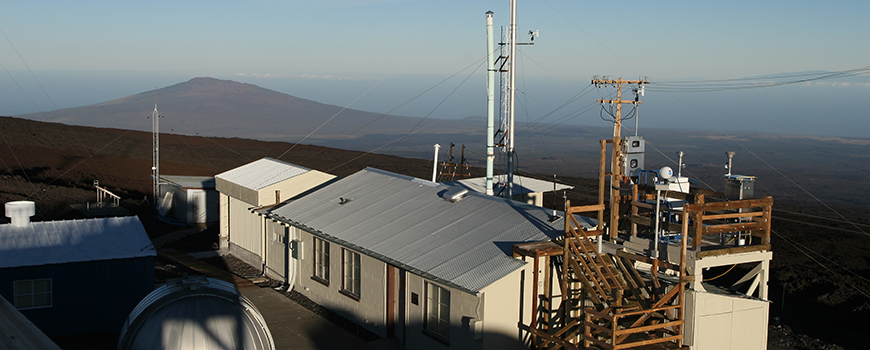 The Mauna Loa Observatory. Photo: Forrest M. Mims III