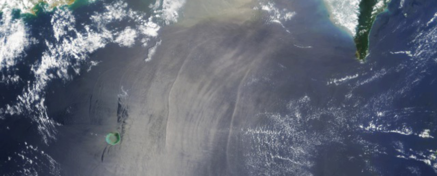South China Sea internal waves seen from space. Photo: NASA and Global Ocean Associates