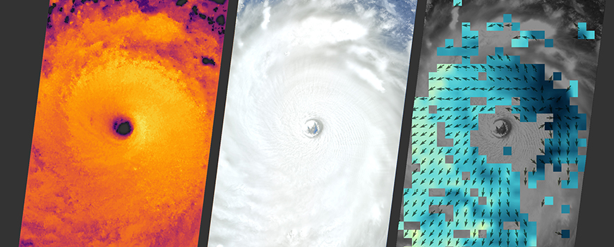 Three views of Typhoon Nepartak from NASA's Multi-angle Imaging SpectroRadiometer (MISR), July 7, 2016