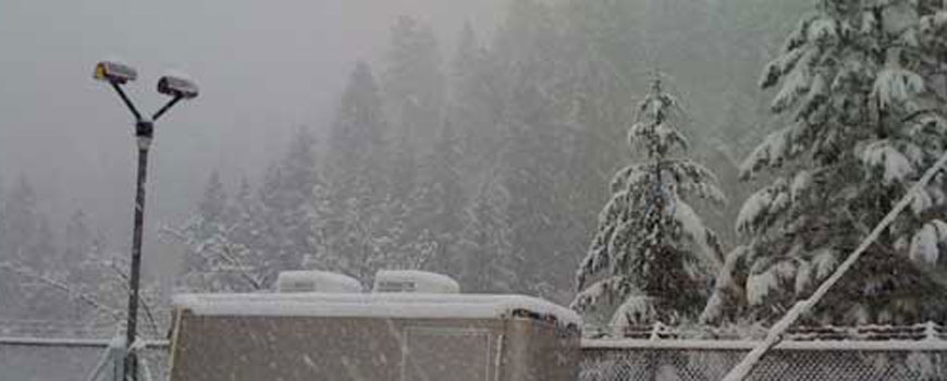 Snowfall at Sugar Pine Field Site
