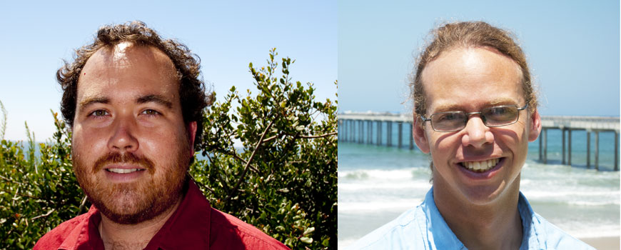 Researchers Dave Stegman (left) and Andreas Andersson won NSF CAREER awards