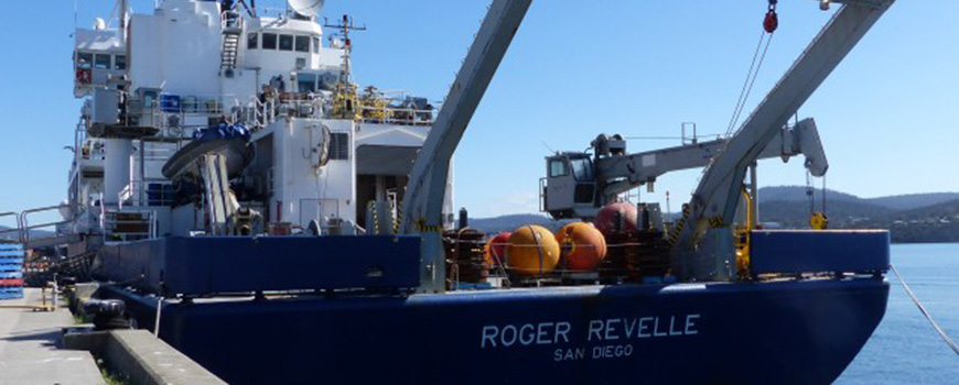 T-TIDE profiling floats aboard R/V Revelle. Photo: Julia Calderone
