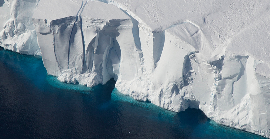 The front of Antarctica's Getz Ice Shelf. Photo: Jeremy Harbeck/NASA