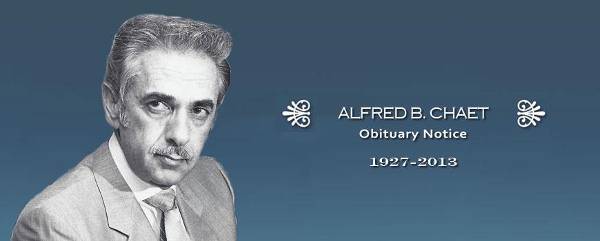 Alfred B. Chaet Obituary