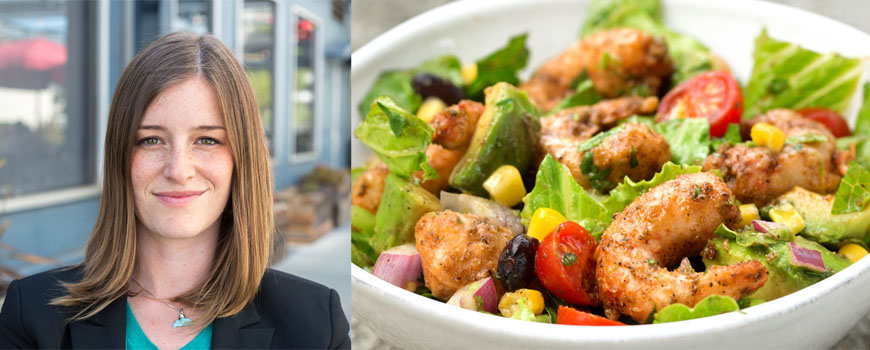 Scripps alumna Dominique Barnes leads New Wave Foods, a company that develops plant-based seafood alternatives.