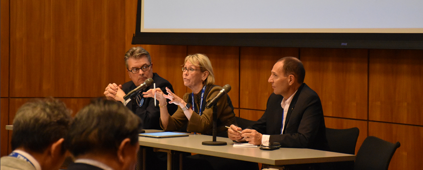 Craig McLean, Margaret Leinen, and Ariel Troisi lead a town hall discussion on the UN Decade.