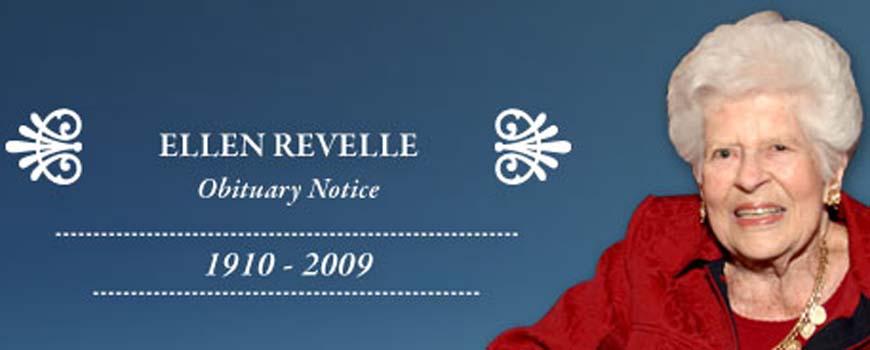 "Obituary Notice: Ellen Revelle: Philanthropist, Native La Jollan, ""A Woman of Character"""