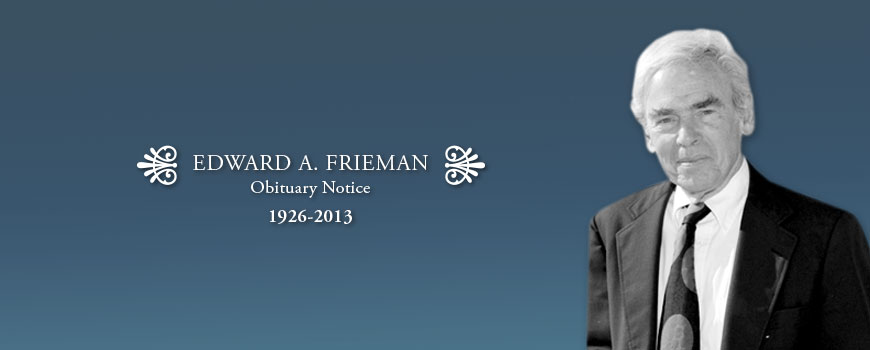 Former Scripps Director Edward Frieman (1926-2013)