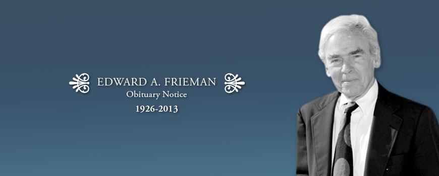 Former Scripps Director Edward Frieman (1926-2013)