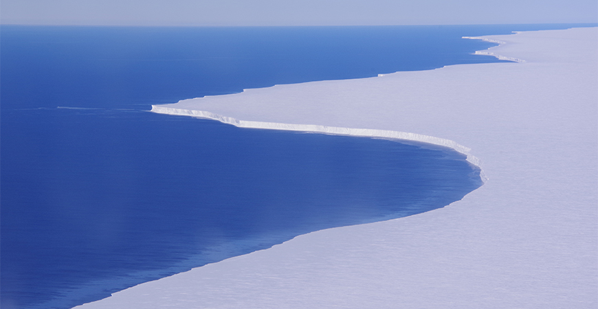 The Ross Ice Shelf in Antarctica. Photo by Susan Howard, Earth & Space Research.