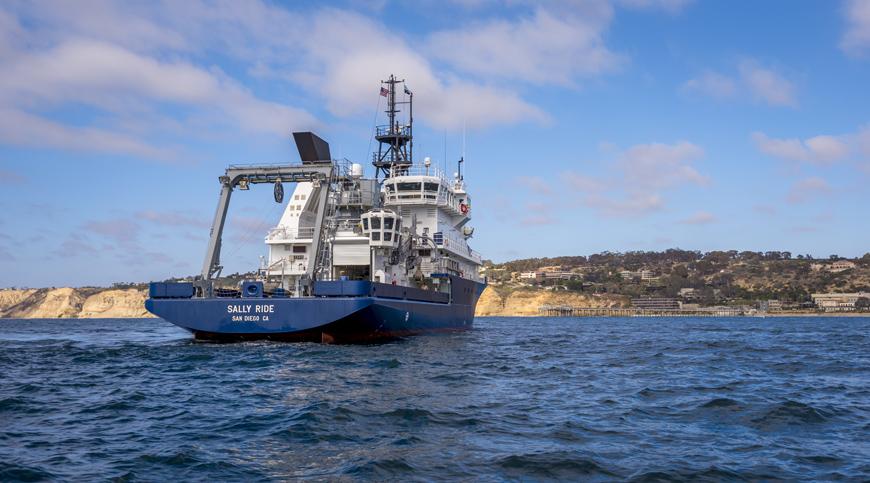 R/V Sally Ride at sea.