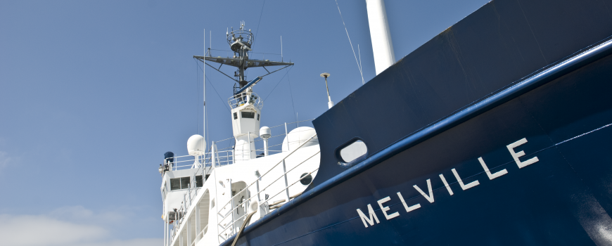 Cal-Echoes researchers will conduct science operations aboard Scripps' global-class research vessel Melville