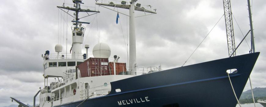 Scripps research vessel Melville was used during a March rapid response cruise off Chile.