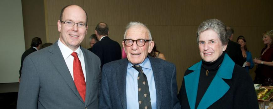 His Serene Highness Prince Albert II of Monaco, Walter Munk and Mary Coakley Munk