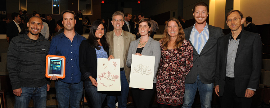 The science innovators from Scripps Oceanography at the 2014 UC San Diego TriNet Challenge competition.
