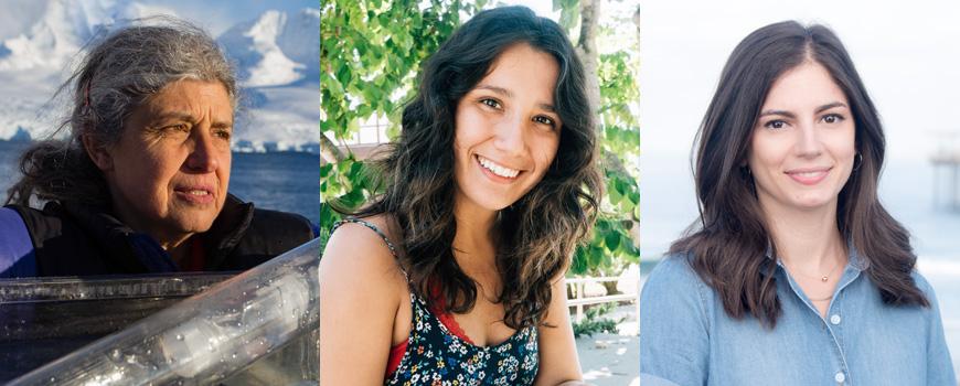 Headshots of three women.