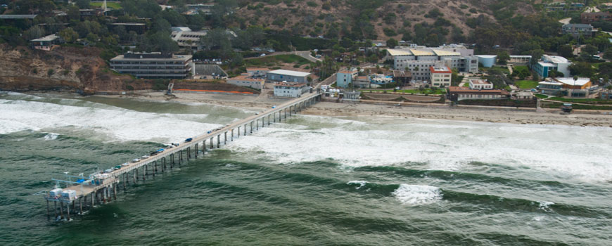 Scripps Pier and the Scripps Institution of Oceanography campus