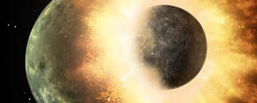 Massive Planetary Collision May Have Zapped Key Elements from Moon