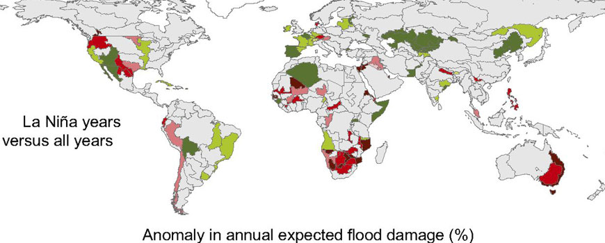 Global flood damage. Image: PNAS