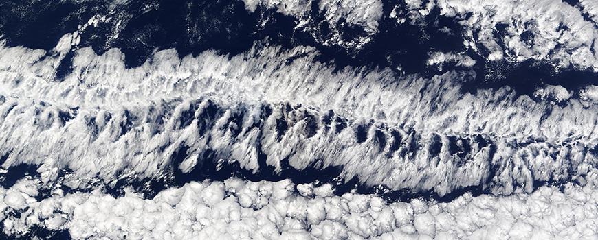 Cloud formations over the eastern Pacific Ocean. Photo: Jeff Schmaltz, MODIS Rapid Response Team, NASA/GSFC