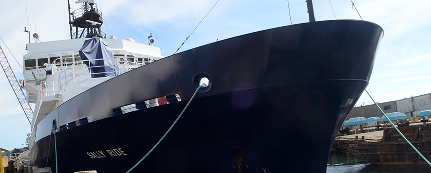 Scripps Oceanography formally took control of R/V Sally Ride, the newest ship in the American research fleet, on July 1