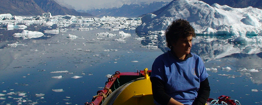 Scripps physical oceanographer Fiamma Straneo in the field