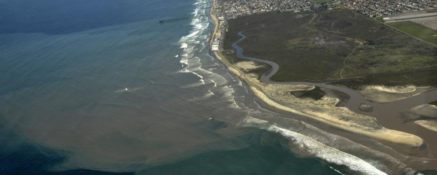 Runoff from the Tijuana River Estuary in Imperial Beach. PC: WildCoast
