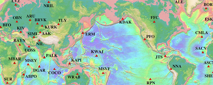 Stations in the global Project IDA network of seismometers
