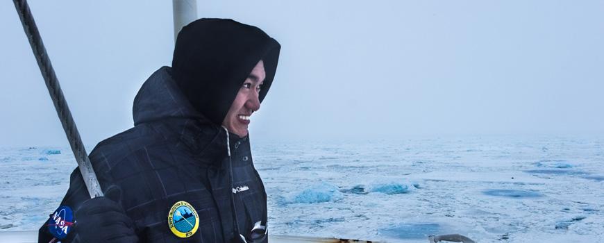 Scripps Oceanography student Jack Pan