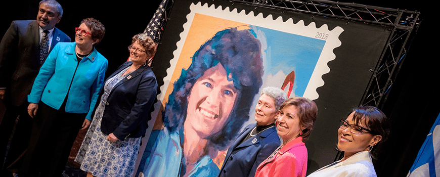Stamp honoring Sally Ride unveiled at UC San Diego