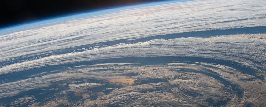 Clouds over the Indian Ocean seen from International Space Station. Photo: NASA