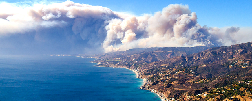 The 2018 Woolsey Fire. Photo courtesy of Peter Buschmann