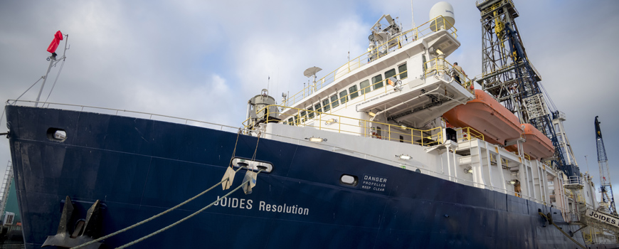 Scripps community members and scientists visit the JOIDES Resolution during its first U.S. port call in more than a decade