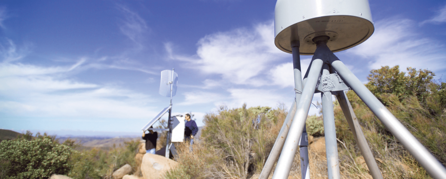 A GPS monument in San Diego County is part of the California Real Time Network that provides geospatial information throughout the state. The data is used to determine where ground movement has happened after an earthquake.