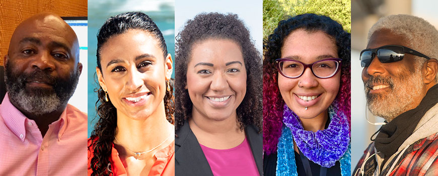 Black History Month-inspired Q&A featuring five stellar members of the Scripps community, ranging from faculty to staff to students