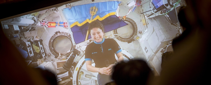 UC San Diego alumna discusses her journey from 'STEM to Stars' during live Q&A from International Space Station