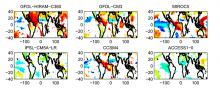 Sensitivity of Sahelian precipitation to surface temperature in CMIP5 models and observations.